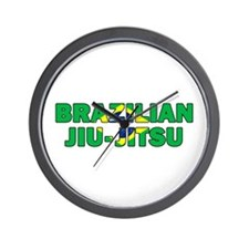 Brazilian Jiu-Jitsu 001 Wall Clock