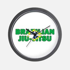 Brazilian Jiu-Jitsu 001 Wall Clock