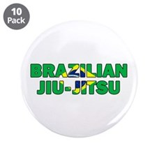 "Brazilian Jiu-Jitsu 001 3.5"" Button (10 pack)"