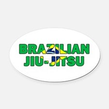 Brazilian Jiu-Jitsu 001 Oval Car Magnet