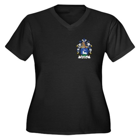Walther Women's Plus Size V-Neck Dark T-Shirt