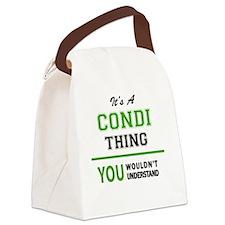 Cute Condi Canvas Lunch Bag
