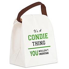 Unique Condi Canvas Lunch Bag