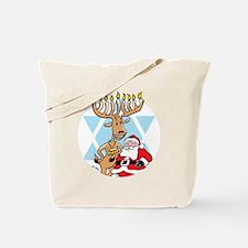 Jews 4 Santa No Text Black Background Tote Bag