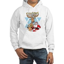 Jews 4 Santa No Text Black Backg Hoodie