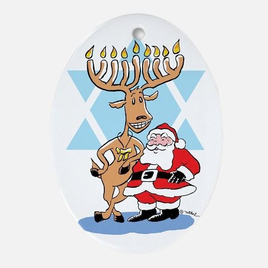 Jews 4 Santa Ornament (oval)