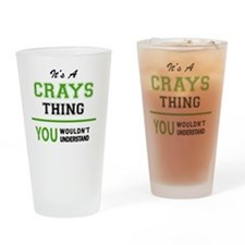 Unique Cray Drinking Glass
