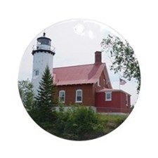 Eagle Harbor Lighthouse Ornament (Round)