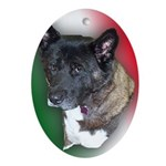 Maggie The Dog Oval Ornament