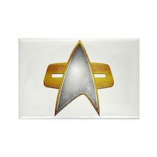 Distressed Starfleet Comm Badge Rectangle Magnet