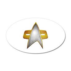 Distressed Starfleet Comm Badge 22x14 Oval Wall Pe