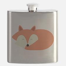 Sleepy Red Fox Flask