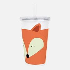 Sleepy Red Fox Acrylic Double-wall Tumbler