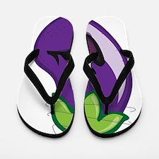 Eggplant Flip Flops