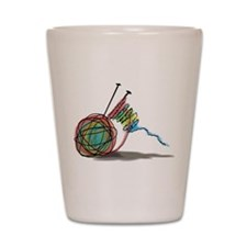 Time to Knit Shot Glass