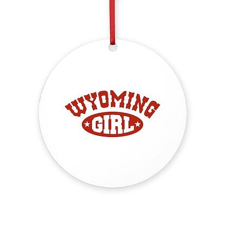 Wyoming Girl Ornament (Round)