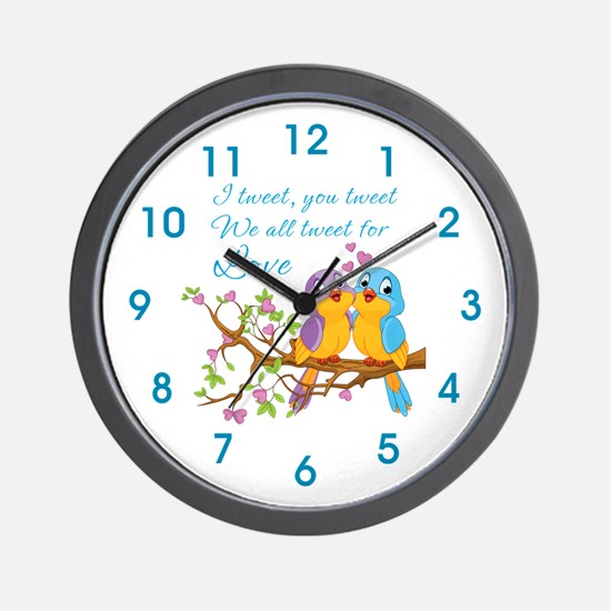 Tweeting For Love- Wall Clock