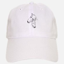 horse and mini donkey Baseball Baseball Baseball Cap