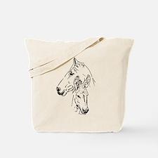 horse and mini donkey Tote Bag