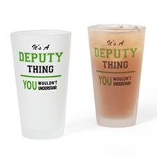 Cute Deputy Drinking Glass