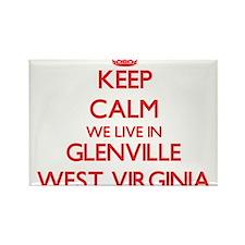 Keep calm we live in Glenville West Virgin Magnets