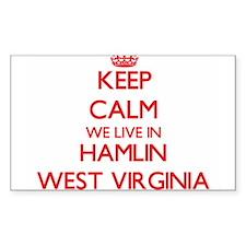 Keep calm we live in Hamlin West Virginia Decal