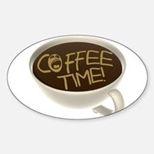 Coffee Time! Coffee Lovers Oval Decal