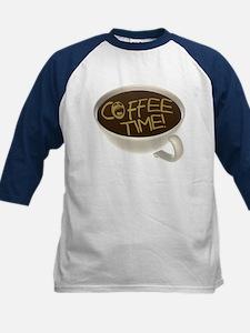 Coffee Time! Coffee Lovers Kids Baseball Jersey
