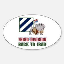Back to Iraq Oval Decal
