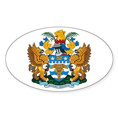 Brisbane Coat of Arms Oval Decal