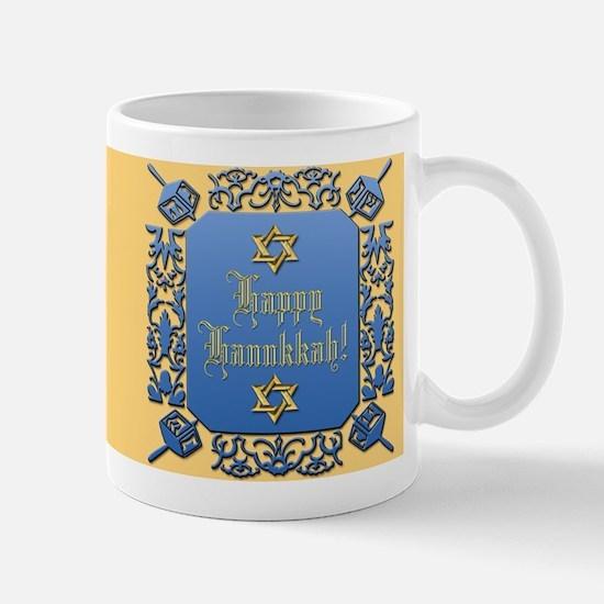 Happy Hanukkah & Dreidel Mug