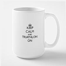 Keep calm and Triathlon ON Mugs