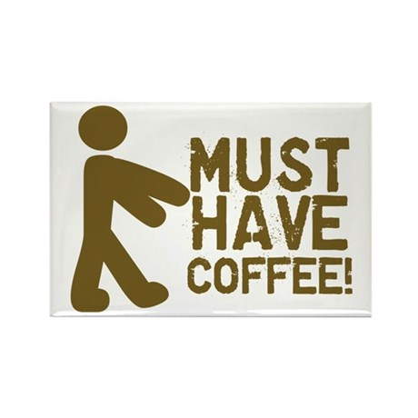 Must Have COFFEE! Zombie Rectangle Magnet (10 pack