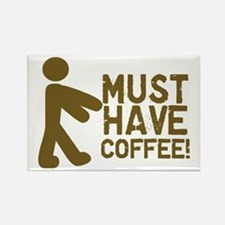 Must Have COFFEE! Zombie Rectangle Magnet