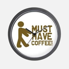 Must Have COFFEE! Zombie Wall Clock