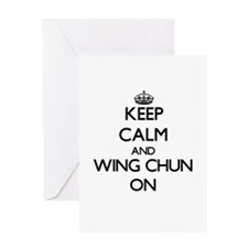 Keep calm and Wing Chun ON Greeting Cards