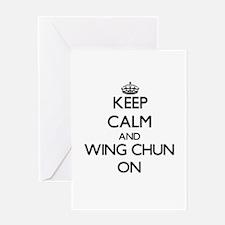 Keep calm and Wing Chun ON Greeting Cards