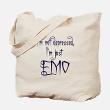 I'm Emo blue Tote Bag
