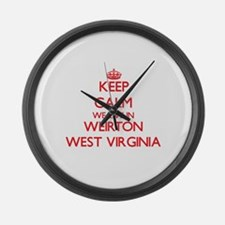 Keep calm we live in Weirton West Large Wall Clock