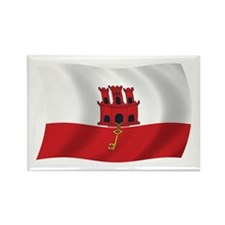 Gibraltar Flag Rectangle Magnet (100 pack)