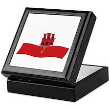 Gibraltar Flag 2 Keepsake Box