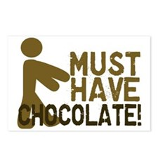 Must Have CHOCOLATE! Zombie Postcards (Package of