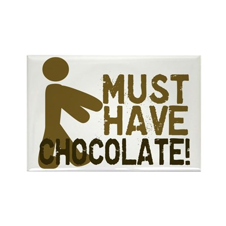 Must Have CHOCOLATE! Zombie Rectangle Magnet (10 p