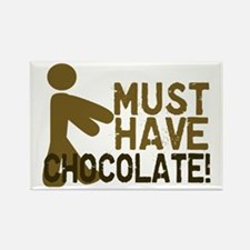 Must Have CHOCOLATE! Zombie Rectangle Magnet