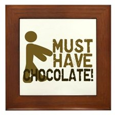 Must Have CHOCOLATE! Zombie Framed Tile
