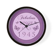 Fabulous Since 1945 Wall Clock