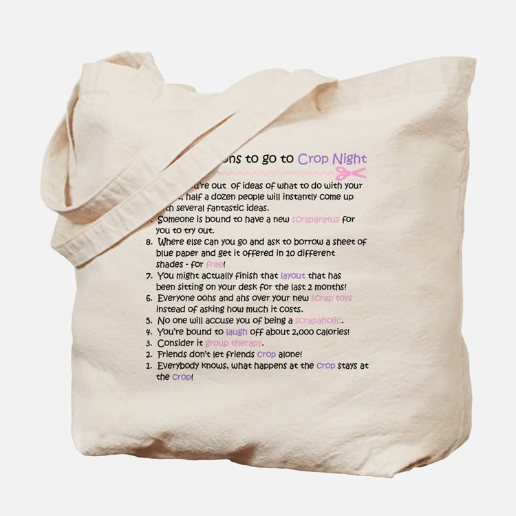 Top 10 {Crop Night} (doublesided) Tote Bag