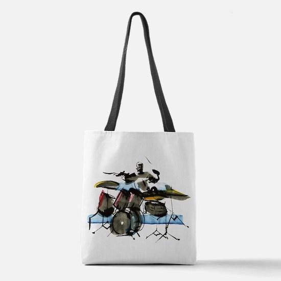 Drummer Polyester Tote Bag