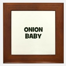 onion baby Framed Tile