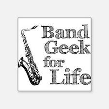 "Unique Band geek Square Sticker 3"" x 3"""
